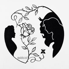Beauty and the Beast  [Pen on white sketchbook] Completed on September 28 2014 Original fanart concept. One of my favourite silhouette artwork by pablocielo.