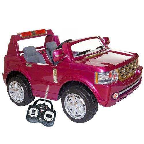 pink two seater ride on range rover style jeep kids electric cars little cars for little people