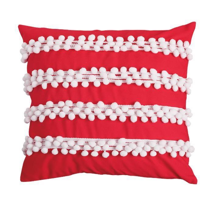 Avon Living Holiday Cheer Pom-Pom Pillow Cover – makeupforapurpose