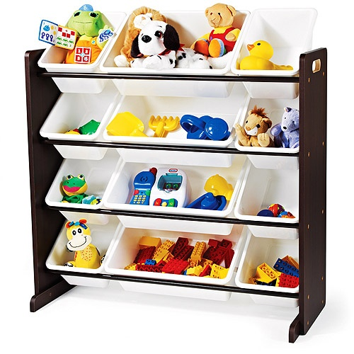 $59.97 at Walmart; Tot Tutors Toy Organizer, Espresso Finish; Not sure if I like the open storage or not...
