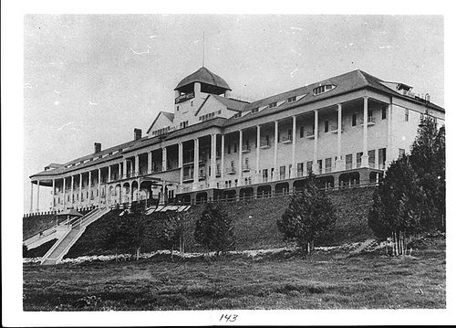 """Grand Hotel taken in 1890 located on Mackinac Island where the movie """"Somewhere in Time"""" was filmed."""