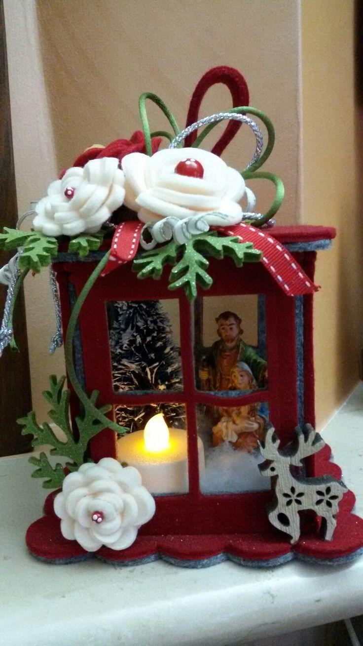 Lanterna natalizia in feltro