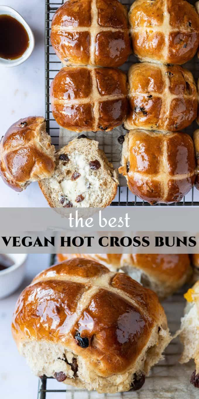 Vegan Hot Cross Buns These Eggless And Dairy Free Vesions Of The Classic British Easter Treat Are Per In 2020 Vegan Bakery Vegan Easter Recipes Hot Cross Buns Recipe
