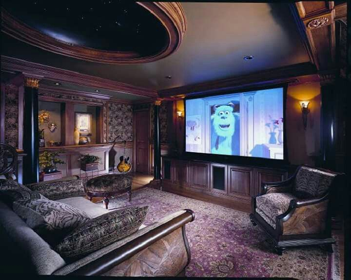 Home Theater Design, Home Designing, Home Theaters, Cinema, Basements,  Living Spaces, Filmmaking, Movies, Home Theatre Lounge