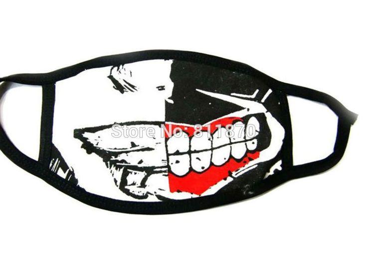 Tokyo Ghoul Cosplay Ken Kaneki Moitié Du Visage de Bande Dessinée Logo Masque Respirateur(China (Mainland))