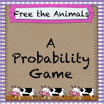 """This game is fun for the students and provides the perfect opportunity to introduce both experimental and theoretical probability.   The game requires two dice, the students roll the dice and subtract the numbers shown to """"free"""" their animals.  This resource includes a cute game board, printable animals (print onto colored paper for full effect), an event recording sheet for students to calculate their own experimental probability, a chart for the students to use to calculate the…"""