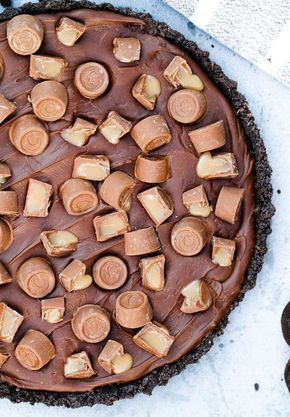 No bake paj med Kola och Choklad