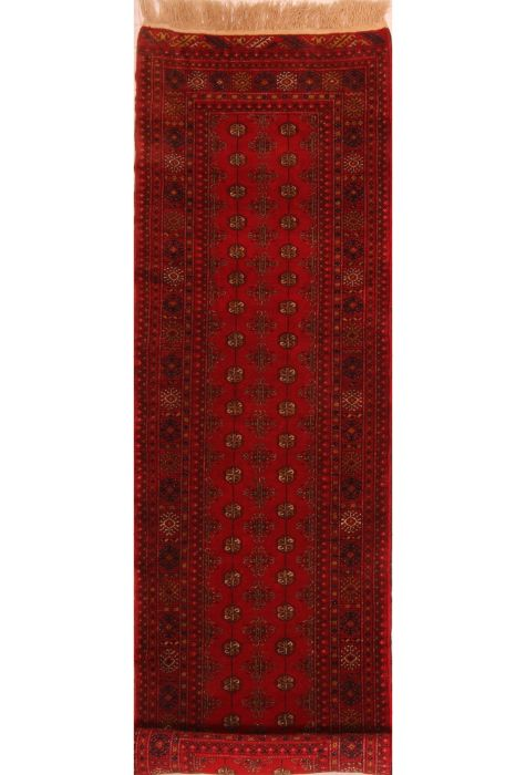 Bokhara Afghan rug. Wool. Hand Knotted. 81 x 287 http://www.rugman.com/afghan-bokhara-design-oriental-area-rug-medium-size-wool-red-rectangle-253-23490