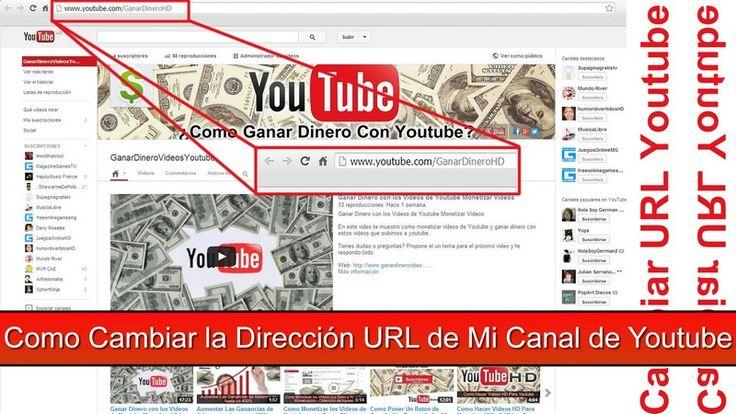 Como Cambiar la URL de Mi Canal de Youtube En este videotutorial te enseño como cambiar la URL de mi Canal de Youtube en pocos segundos de forma muy sencilla.