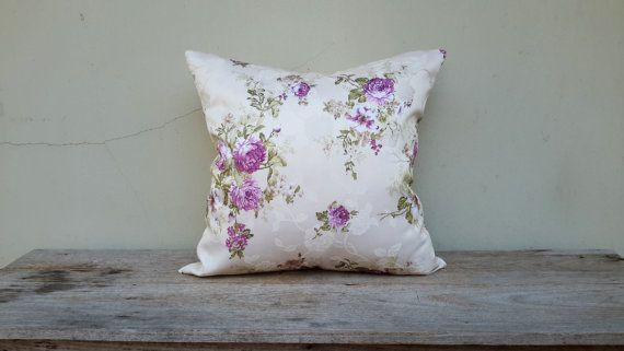 18 x 18 inch Vintage pillow coverFlora Purple pillow by CoverRelax