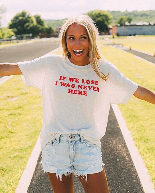 if we lose i was never here game day t shirt and outfit from ShopRiffraff.com