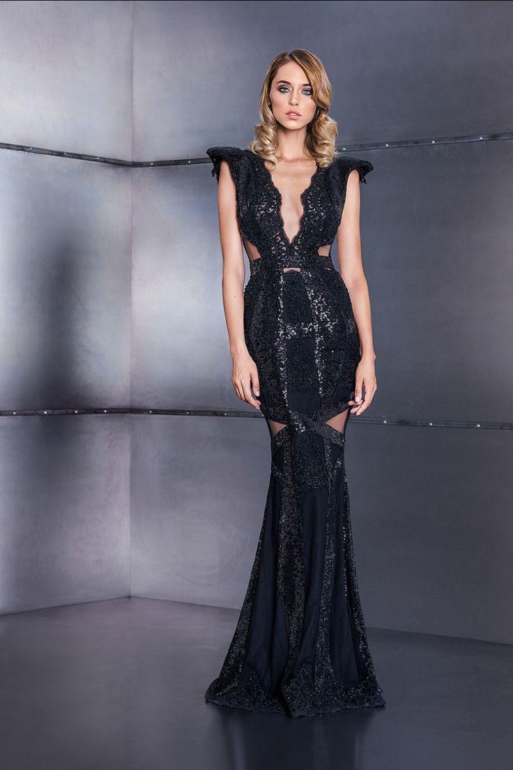 Sequin black dress