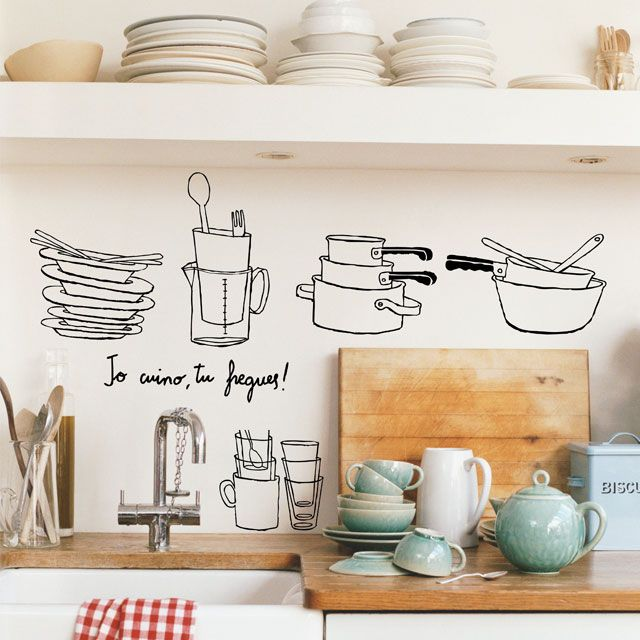 love the line drawings in the back splash area!!!!