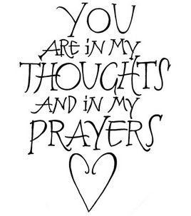 Stampendous Rubber Stamp-Thoughts & Prayers