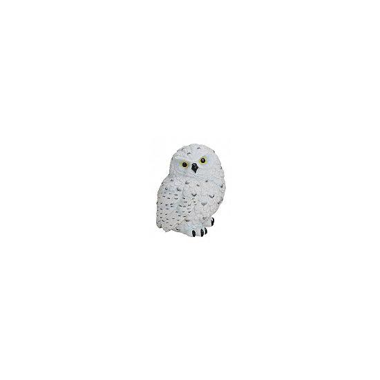 Polystone wit uiltje 11 cm  Decoratie sneeuwuil 11 cm. Witte sneeuwuil van polystone met een formaat van ongeveer 11 x 9 x 8 cm.  EUR 6.95  Meer informatie