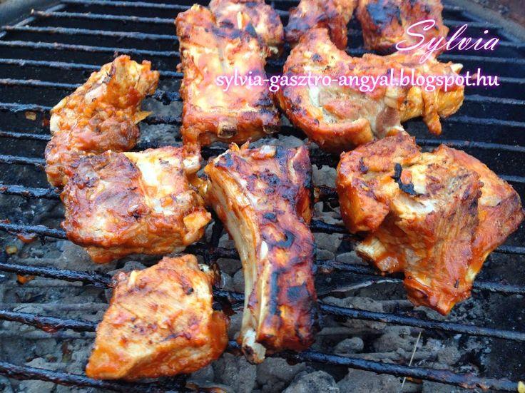 Sylvia Gasztro Angyal: Grillen sült barbecue oldalas