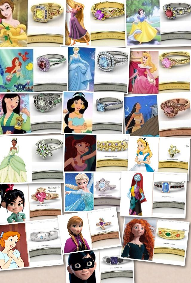 Disney princess rings again love the quotes in them so pretty !!!
