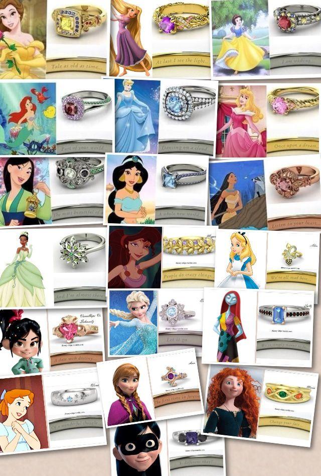Anéis dos personagem da Disney