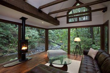 Amy Alper, Architect rustic living room