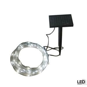 Something like this for backyard. Need more light out there! It's dark at night and in the morning when I let the dog outside    Hampton Bay 16 ft. Solar LED Rope Light-82056-055SR at The Home Depot