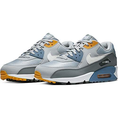 Nike Mens Air Max 90 Essential Running Shoes Wolf GreyWhite