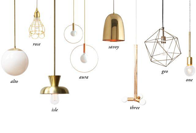 pendant light shopping guide // smitten studio