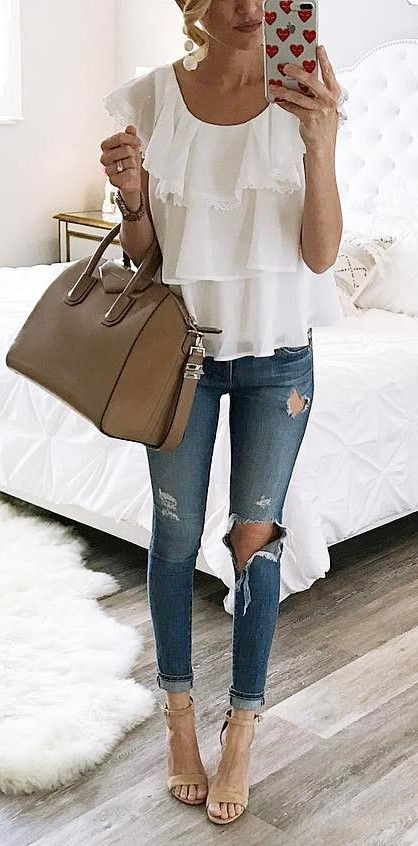 ripped basic wearing with nude details