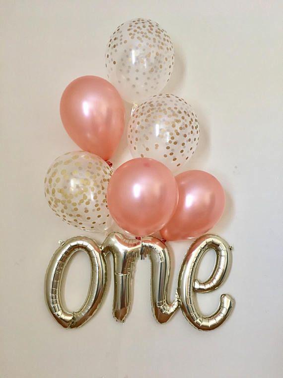 First Birthday Balloon One is Fun Theme Fun Script Balloon First Birthday Decor Birthday Party Balloon Smash Cake Balloon