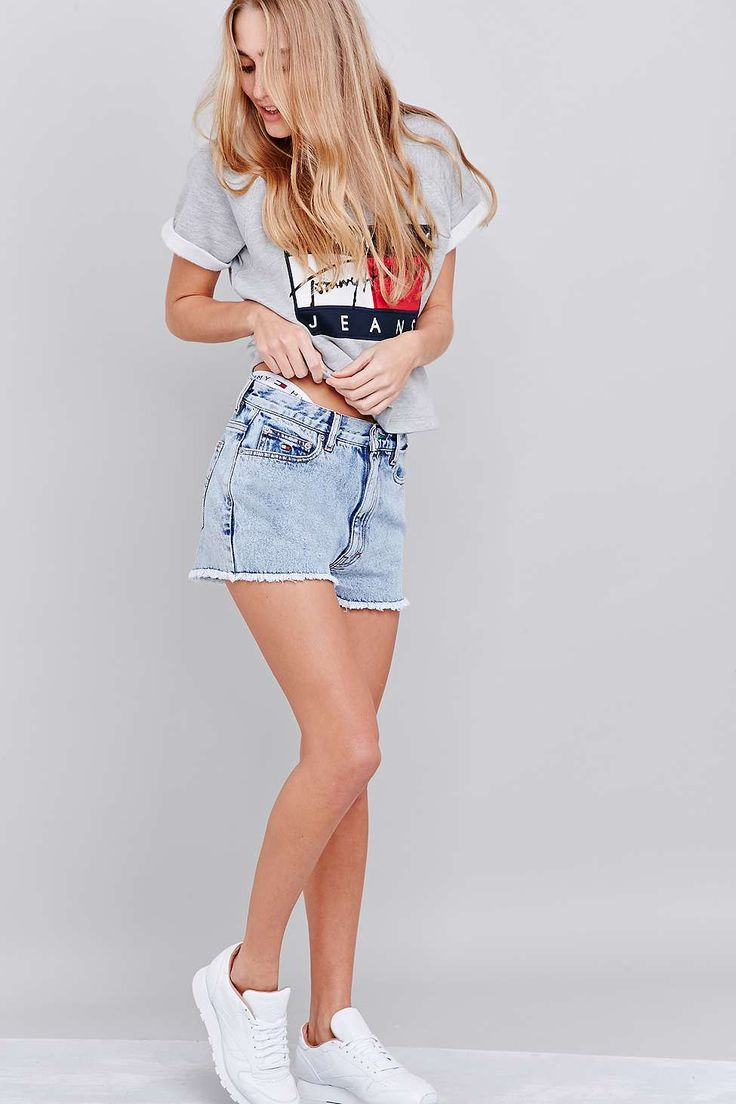 UO Exclusive Tommy Jeans Classic Blue Shorts