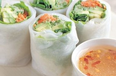 vegan Cucumber and Avocado Summer Rolls with Mustard-Soy Sauce ...