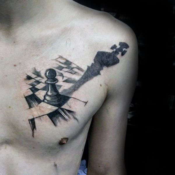 60 King Chess Piece Tattoo Designs For Men