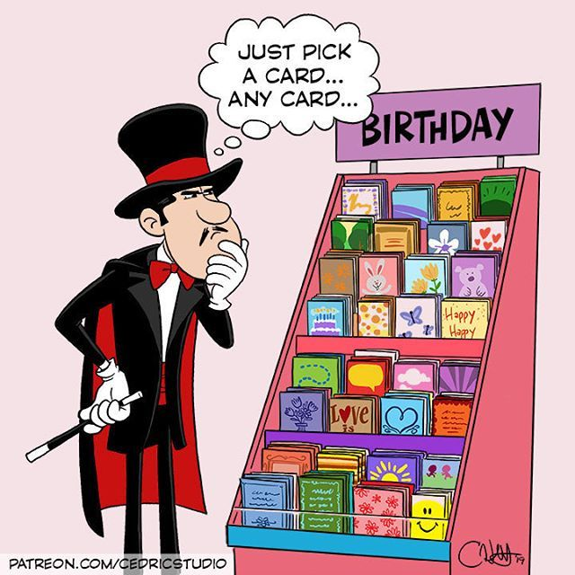 New Cartoon Greetingcards Birthday Magician Cartoon Comic Book Cover Funny Cartoon