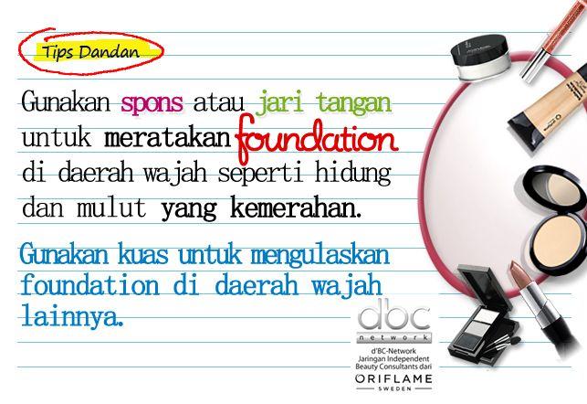 Tips meratakan foundation