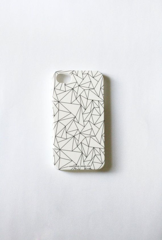 Holiday SALE: Geometric Phone Case. Whimsy black and white Gadget Accessory. Geekery Unisex gift for men and women