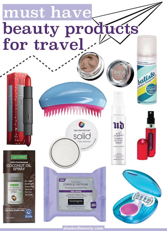 Don't let your beauty routine suffer when on vacation! Click through for the full list of ten must have beauty products for travel