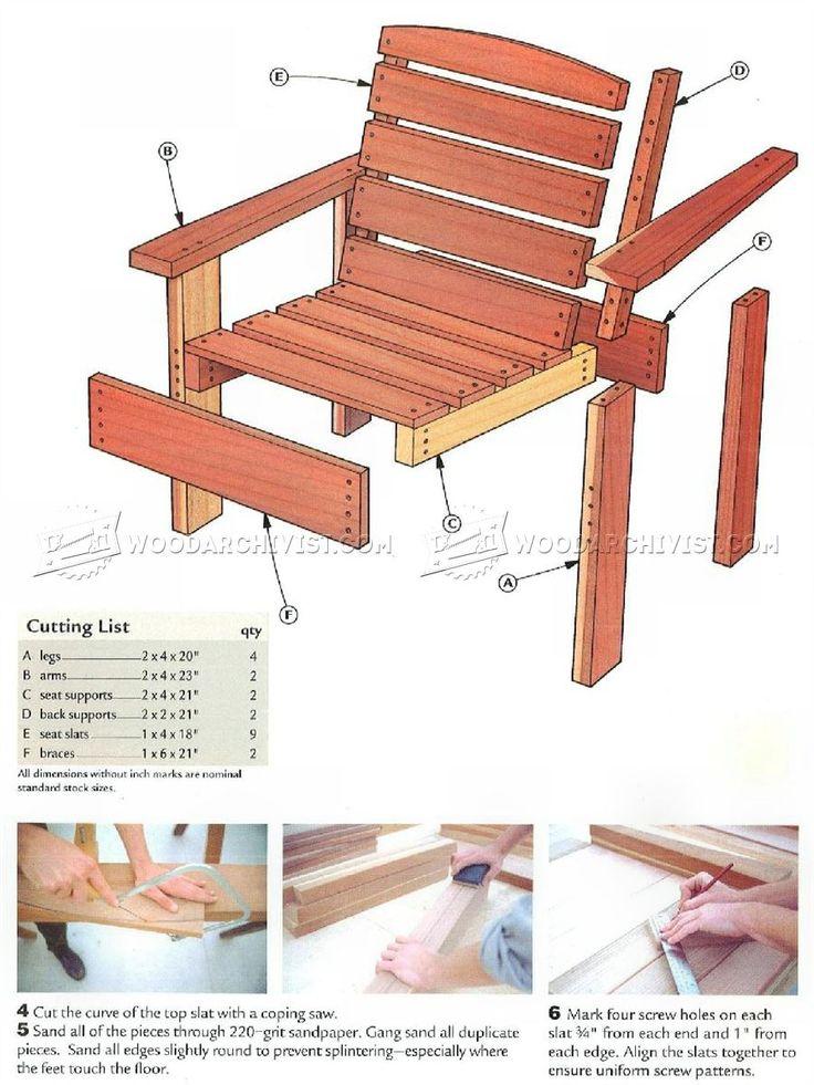 25 Best Wooden Chair Plans Ideas On Pinterest Adirondack Chair Plans Adir