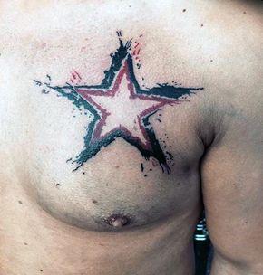 watercolor-trash-polka-star-mens-chest-tattoos.jpg (600×629)