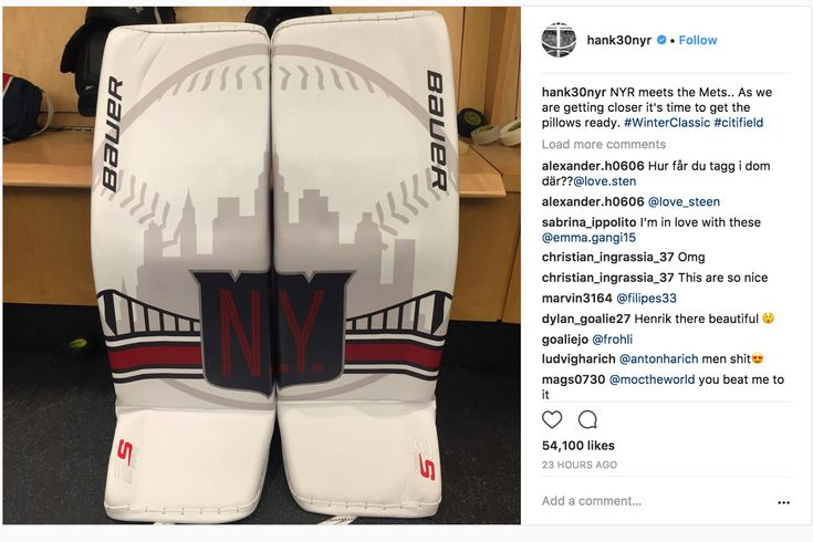 The Rangers' goaltender sticks to the baseball theme for the big game at Citi Field. The New York Rangers are taking on the Buffalo Sabres at Citi Field for the 2018 Winter Classic, so Henrik Lundqvist has some appropriately themed new pads for the big game. If you're a New York Met...