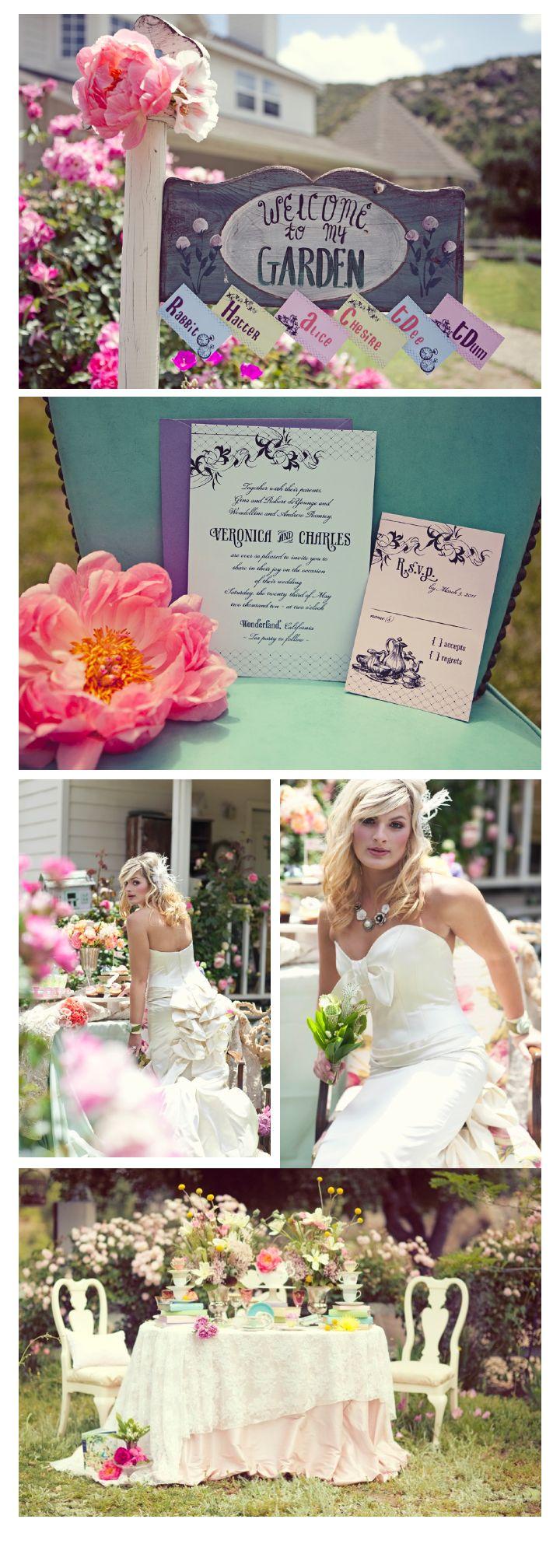 Alice in wonderland themed wedding dress   best 大人可愛いウェディング images on Pinterest  Wedding ideas