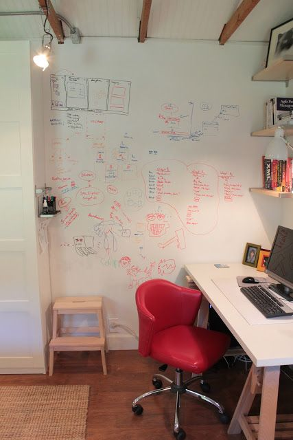 dry erase wall! Perfect for an office or somewhere where a lot of brainstorming happens!