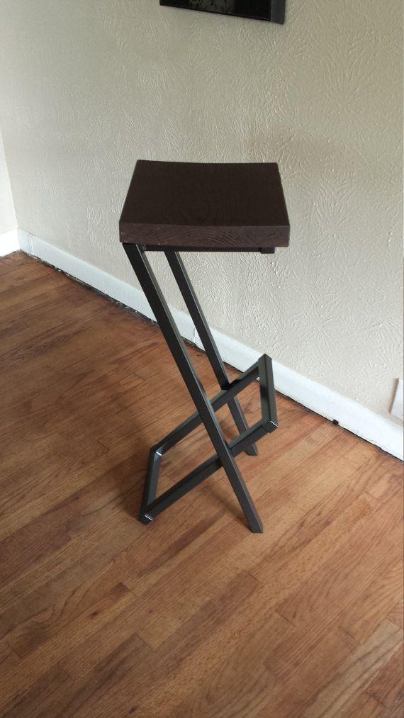 30 tall stool modern bar stool  counter stool by AlexMetalArt