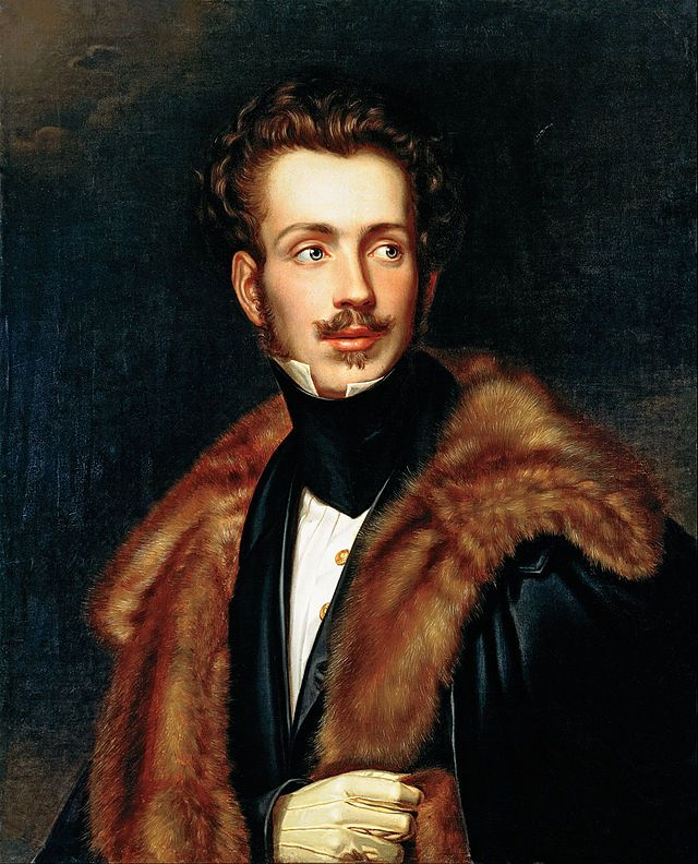 Auguste de Beauharnais (9 December 1810 – 28 March 1835) was the first prince consort of Maria II of Portugal. He was also Duke of Leuchtenberg, Prince of Eichstätt, and Duke of Santa Cruz in his own right.
