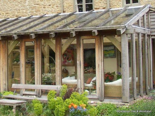 Oak frame no dwarf wall sunrooms pinterest dwarf for Timber frame sunroom addition