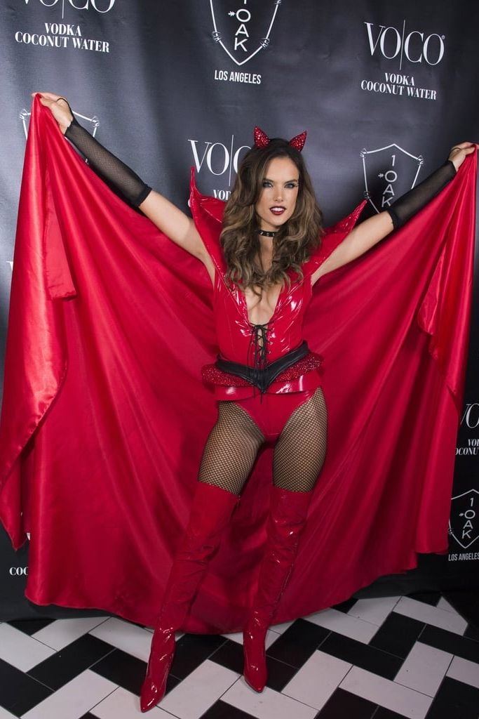 Alessandra Ambrosio continued her sexy Halloween streak with a devil costume only a Victoria's Secret angel could wear. Alessandra Ambrosio Wore a Devil Costume Fit For an Angel at Her Halloween Party