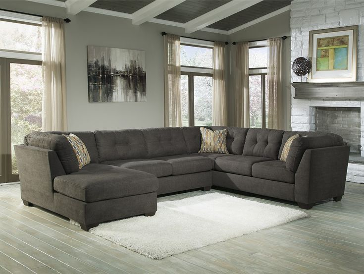 Delta City-Steel Collection 19700 Ashley Sectional Sofa : grey ashley sectional - Sectionals, Sofas & Couches