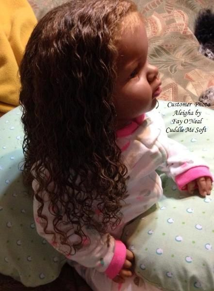 Aleigha - Biracial Reborn Toddler For Sale Arianna by Reva Schick