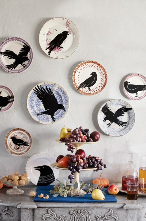 Love these....great way to use thrift store plates