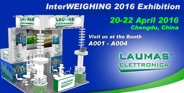 INTERWEIGHING 2016 / CHENGDU CHINA Laumas renews the traditional presence to the most important showcase for the weighing technologies. We invite all trade operators to visit our booth No. A001-A004. See you in CHENGDU!!