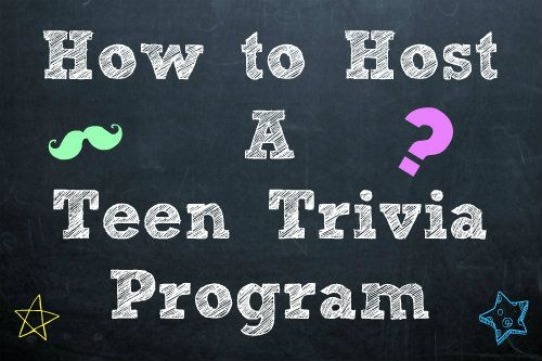 Another Library Blog outlines what to do when you want to create a successful monthly Teen Trivia Program by offering trivia examples and helpful hints on how to structure and publicize for the program. This type of program seems like a great way to get teens into the library and foster a sense of community among the teens if you can get the same group in every month.
