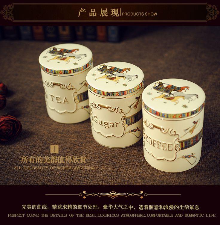 Европейские керамические загерметизированная банки кухня еда печенья сахар сухофруктами горшок чайник кофейник набор-определиться. com дней кошка